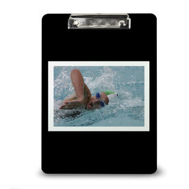 Swimming Custom Clipboard Swim Your Photo Solid Background