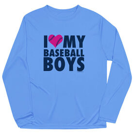 Baseball Long Sleeve Performance Tee - I Love My Baseball Boys