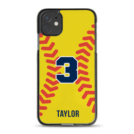 Softball iPhone® Case - Personalized Stitches Illustration