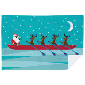 Crew Premium Blanket - Crew Reindeer And Santa Pattern Landscape