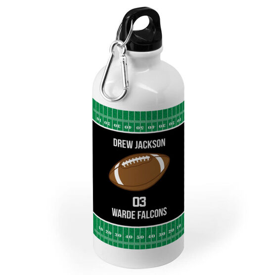 Football 20 oz. Stainless Steel Water Bottle - Team With Football