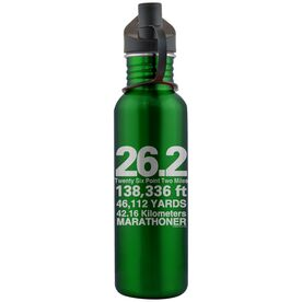 26.2 Math Miles 24 oz Stainless Steel Water Bottle