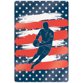 """Rugby 18"""" X 12"""" Aluminum Room Sign - USA Player"""