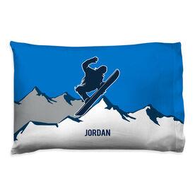 Snowboarding Pillowcase - Personalized Airborne