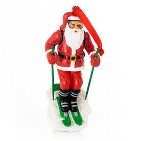 Skiing Ornament - Santa Skier