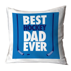 Hockey Pillow Best Dad Ever