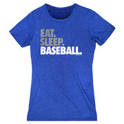 Baseball Women's Everyday Tee - Eat Sleep Baseball Bold Text
