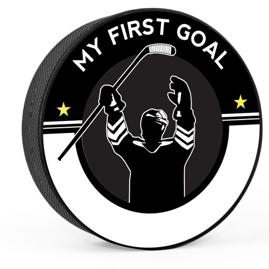 c78df5d3dcc Images. Personalized My First Goal (Write In) Hockey Puck