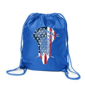 Guys Lacrosse Sport Pack Cinch Sack - Patriotic Stick
