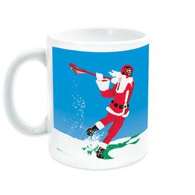 Guys Lacrosse Coffee Mug Santa Laxer