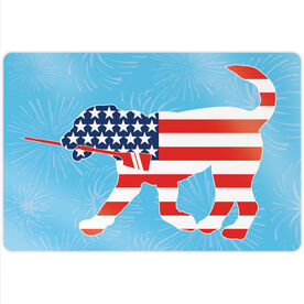 "Crew 18"" X 12"" Aluminum Room Sign - Patriotic Cody The Crew Dog"