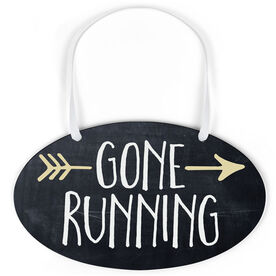 Running Oval Sign - Gone Running