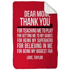 Field Hockey Sherpa Fleece Blanket - Dear Mom