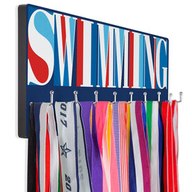 Swimming Hooked on Medals Hanger - Swimming Mosaic