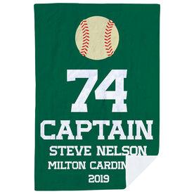 Baseball Premium Blanket - Personalized Captain