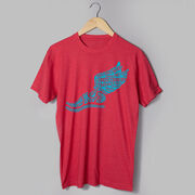 Cross Country Short Sleeve T-Shirt - Winged Foot Inspirational Words