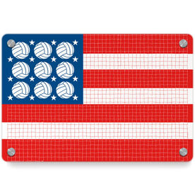 Volleyball Metal Wall Art Panel - Patriotic
