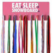 Snowboarding Hooked on Medals Hanger - Eat Sleep Snowboard