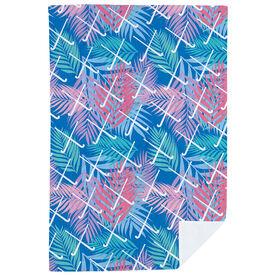 Field Hockey Premium Blanket - Tropical Palm