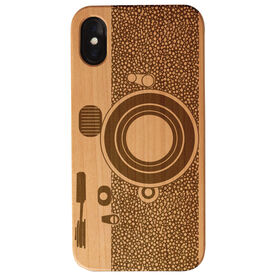 Engraved Wood IPhone® Case - Camera