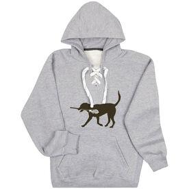 Guys Lacrosse Sport Lace Sweatshirt - Max The Lax Dog