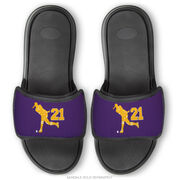 Field Hockey Repwell® Sandal Straps - Field Hockey Player With Number