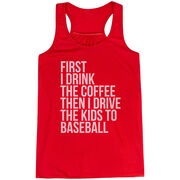 Baseball Flowy Racerback Tank Top - Then I Drive The Kids To Baseball
