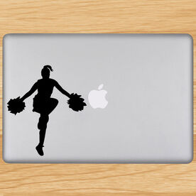 Cheerleader Removable ChalkTalkGraphix Laptop Decal