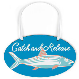 Fly Fishing Oval Sign - Catch and Release