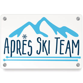Skiing Metal Wall Art Panel - Après Ski Team