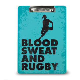 Rugby Custom Clipboard Blood Sweat And Rugby Female