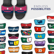 Basketball Repwell® Sandal Straps - Team Name Colorblock