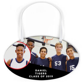 Basketball Oval Sign - Class Of Team and Player Photo