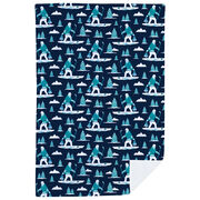 Hockey Premium Blanket - Hockey Yeti Pattern
