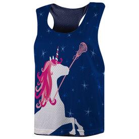 Girls Lacrosse Racerback Pinnie - Unicorn
