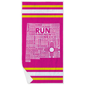 Running Premium Beach Towel - New Mexico State Runner
