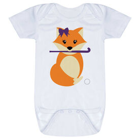 Field Hockey Baby One-Piece - Field Hockey Fox