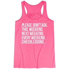 Cheerleading Flowy Racerback Tank Top - All Weekend Cheerleading