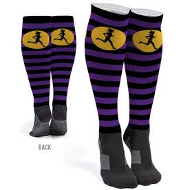 Running Printed Knee-High Socks - Witch Running