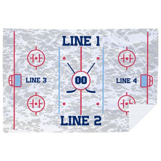 Hockey Premium Blanket - Personalized Hockey Team