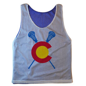Guys Lacrosse Pinnie - Colorado C with Crossed Sticks