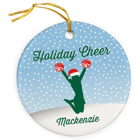 Cheerleading Porcelain Ornament Holiday Cheer
