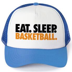 Basketball Trucker Hat - Eat Sleep Basketball
