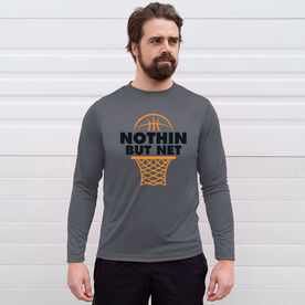 Basketball Long Sleeve Performance Tee - Nothin But Net