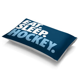 Hockey Pillowcase - Eat. Sleep. Hockey.