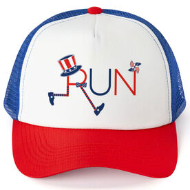 Running Trucker Hat - Let's Run for America