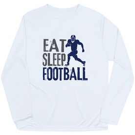Football Long Sleeve Performance Tee - Eat Sleep Football