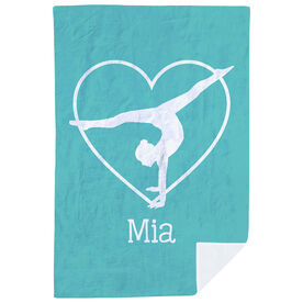 Gymnastics Premium Blanket - Personalized Heart Gymnast