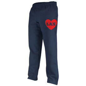 Girls Lacrosse Fleece Sweatpants - Lax Heart