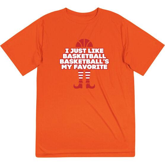 Basketball Short Sleeve Performance Tee - Basketball's My Favorite